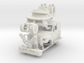1/87 FDNY Terrastar Rescue Medic Cab in White Natural Versatile Plastic