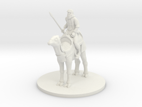 Desert Warrior on Camel in White Natural Versatile Plastic