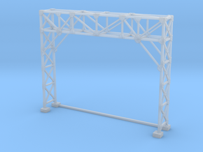 HO Scale Signal Gantry 2 tracks in Smooth Fine Detail Plastic
