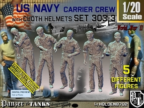 1/20 USN Carrier Deck Crew Set303-3 in White Natural Versatile Plastic