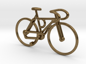 Racing Bicycle Pendant in Raw Bronze