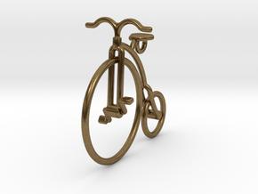 Vintage Bicycle Pendant in Natural Bronze