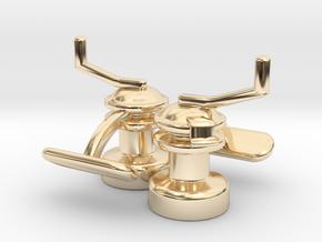 Winch Cufflinks in 14k Gold Plated Brass