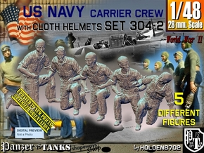 1/48 USN Carrier Deck Crew Set304-2 in Smooth Fine Detail Plastic