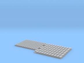 1:16 Tiger I and II Schürzen mounting blocks in Smooth Fine Detail Plastic