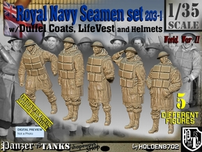 1/35 Royal Navy D-Coat+Lifevst Set203-1 in Smooth Fine Detail Plastic