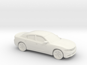 1/48 2015 Dodge Charger in White Natural Versatile Plastic
