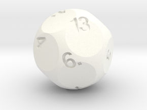 d13 Sphere Dice Alt in White Strong & Flexible Polished