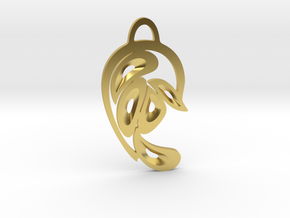 """""""Peacock Tail"""" Pendant in Polished Brass"""