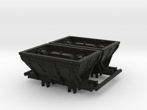 009 Coal Hoppers X 2 in Black Natural Versatile Plastic