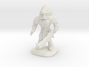 Xochatl Warrior-War Of The Ravaged Board Game Mini in White Natural Versatile Plastic: Small