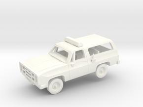 M1009 CUCV Police in White Processed Versatile Plastic: 1:200