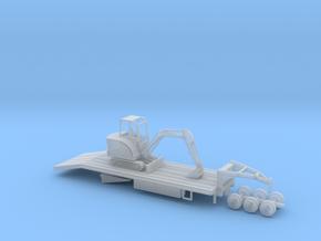 38' gooseneck equipment trailer LOADED v2 in Smooth Fine Detail Plastic