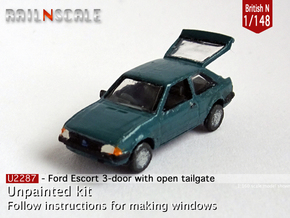 Ford Escort with open tailgate (British N 1:148) in Smoothest Fine Detail Plastic