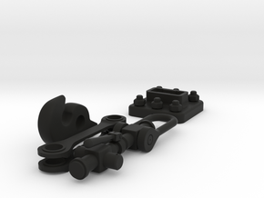 Coat hook - railway coupling in Black Natural Versatile Plastic