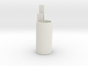 Rear BB core top in White Natural Versatile Plastic