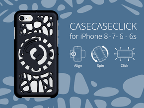 for iPhone 8-7-6-6s : geo : CASECASE CLICK in Black Strong & Flexible