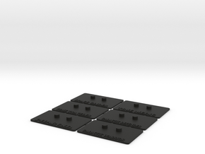 Outstanding Stands 6-Pack in Black Natural Versatile Plastic