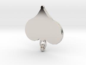 Interlocking Knot Heart Pendant in Rhodium Plated Brass
