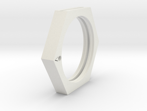Point (Bookring) in White Natural Versatile Plastic