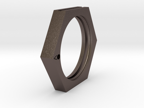Point (Bookring) in Polished Bronzed Silver Steel