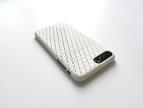 iPhone 7 Plus Case_Geometric in White Strong & Flexible Polished