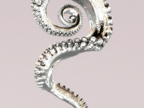 Tentacle Pendant in Polished Silver