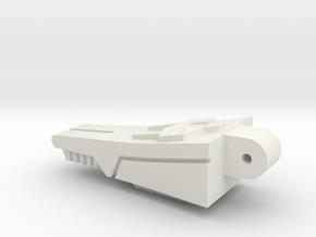 Back Spike Thruster for TR Galvatron in White Premium Versatile Plastic