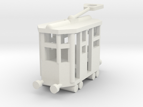 Besatzungsteil  Alte Tram 1:87 in White Natural Versatile Plastic