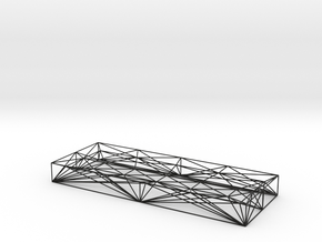 Wireframe pen tray  in Black Natural Versatile Plastic