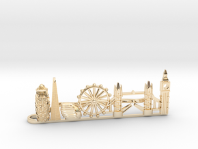 Tie Clip London in 14k Gold Plated Brass