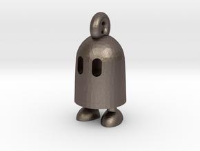 Obb keychain in Polished Bronzed Silver Steel