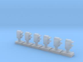 Dwarf 2 Light Std 160:1 N Scale (Qty 6) in Smooth Fine Detail Plastic
