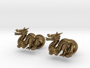 Dragon Cufflinks in Polished Bronze