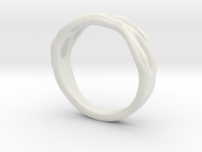 Organic Ring in White Natural Versatile Plastic: 10.5 / 62.75