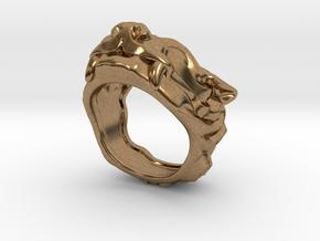 """Fu Dog (Komainu) """"um"""" Ring in Natural Brass: 7 / 54"""