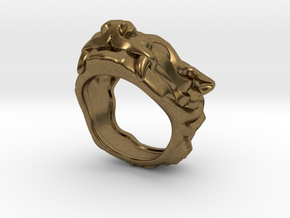 "Fu Dog (Komainu) ""um"" Ring in Natural Bronze: 7 / 54"