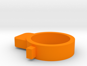 MSK barrel stabilizer in Orange Processed Versatile Plastic
