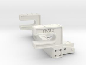 Trail Honcho Rear Body Mount in White Premium Versatile Plastic