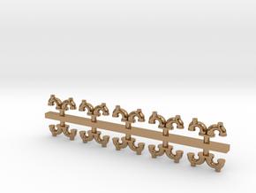 10 Doppel-Wendler Lüfter (1/220) in Polished Brass