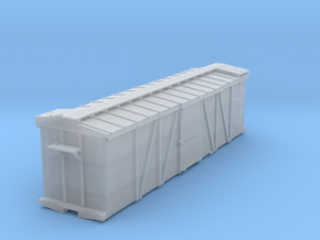 EBT steel boxcar body in Smooth Fine Detail Plastic