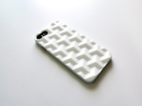 iPhone 7 case_Cube in White Strong & Flexible Polished
