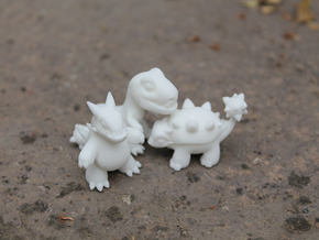 Miniature Dinos in White Natural Versatile Plastic