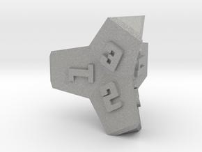 Brutalist Dice Set — Version 2 Singles in Aluminum: d4