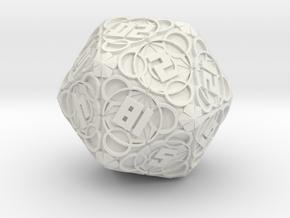 Thaumaturgy - D20 in White Premium Strong & Flexible