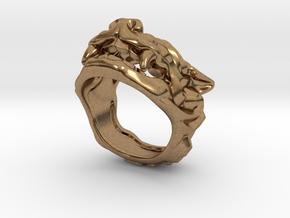 """Fu Dog (Komainu) """"a"""" Ring in Natural Brass: 7 / 54"""