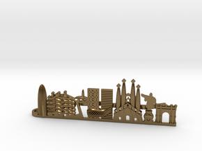 Tie Clip Barcelona in Polished Bronze