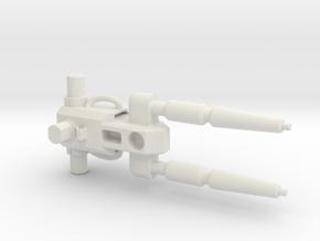 Twinblaster for POTP Grimlock in White Natural Versatile Plastic