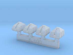1/700 A-190 Arsenal Turrets in Smoothest Fine Detail Plastic