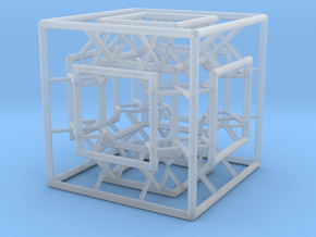 Menger Mixed Cube in Smooth Fine Detail Plastic